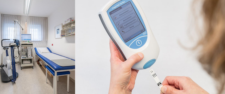 EKG-Zimmer und Untersuchungen
